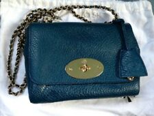 Authentic Mulberry Lily Petrol Blue cross body bag with chain strap