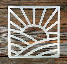 Style Art Déco Sunrise Tile Stencil 190 µ Mylar lavable Reusabl 15 x 15 cm
