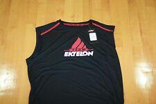 Ektelon Team Sleeveless Shirt Dry-Fit Black/Red/White Size Mens M Medium