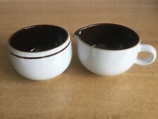 Denby Gourmet Vanilla - Cream Jug and Sugar Bowl