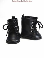 Black Lace Up Boots 18 in Doll Clothes Fits American Girl
