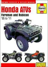 1995-2011 Honda Foreman Rubicon 400 450 500 ATV Quad HAYNES REPAIR MANUAL 2465