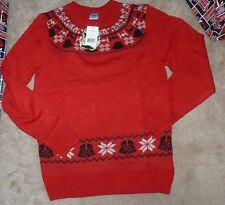 NEW DISNEY Star Wars Ugly Christmas Holiday Crew Sweater Men S Small Red NEW NWT