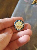 Vintage Delta Airlines Customer Commitment Enamel Lapel Pin Crew Attendant VTG