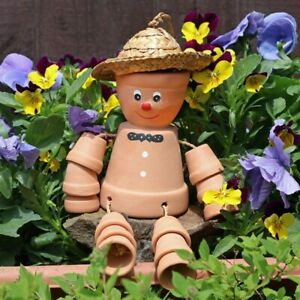 Terracotta Pot Man - Hanging Garden Ornament - Gardening Gift