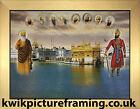 "Sri Harmandir Sahib Golden Temple Amritsar Picture Frame In Size - 12"" X 9"""