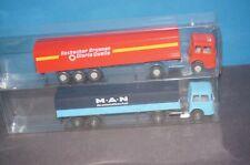 RF30] 2x Wiking Sattelzüge M.A.N 1/87 Rosbacher u. MAN die Wirtschaftliche Kraft