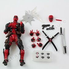 UK 15cm Revoltech Series No.001 Deadpool Wade Wilson Action Figure Xmas Gift Box