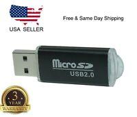Portable USB 2.0 Adapter MicroSD SD SDHC Memory Card Pro SDXC Reader Flash Drive