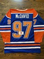 Connor McDavid Edmonton Oilers #97 Signed Autographed Jersey- PAAS COA