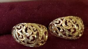 14kt Gold Stud Earrings with Gift Box 4.09 Grams Diamond Cut!!
