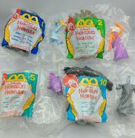 Lot of FOUR McDonald's 1996 Hercules Happy Meal Toys Walt Disney
