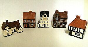 5 x miniature houses (Mudlen End Studio, Felsham)