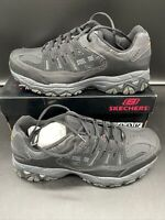 Skechers Mens Crankton Steel toe Lace Up Safety Shoes, Black/Charcoal, Size 13.0
