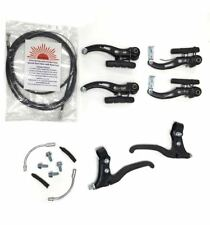 BMX Mountain Bike Brake Levers + V Brakes + Cables (front + rear) Caliper Set UK