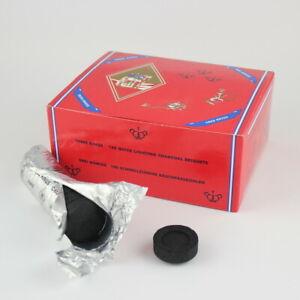 Schnellzünderkohle Räucherkohle für Weihrauch Shisha - 33/40 mm - 100-er Karton