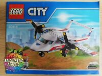 LEGO - INSTRUCTIONS BOOKLET ONLY Ambulance Plane - City - 60116