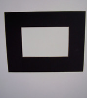Picture Framing Mat 4x6 black with 2x3 opening for small picture coin bottlecap