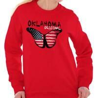 Oklahoma Original Butterfly America Souvenir Sweat Shirt Sweatshirt For Womens