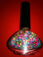 Funky Fingers PEP RALLY Nail Polish Paint Confetti Party  BEST SELLER!