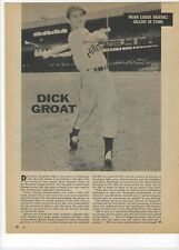 1960 Dick Groat Pittsburgh Pirates Major League Baseball Magazine Page Print Ad
