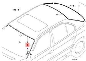 Genuine BMW E38 7-Series Front Windshield Left Moulding Seal 740il 740i 750