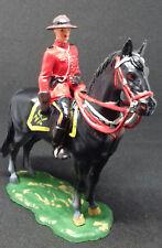 ELASTOLIN officier de la police montée sur son cheval noir