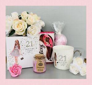 LADIES 21st BIRTHDAY PAMPER HAMPER GIFT SET BOX HER BIRTHDAY DAUGHTER FRIEND SIS