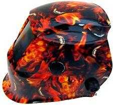 Auto Oscurecimiento Casco Soldadura Soldadores Máscara energía solar Diseño Infierno Fuego **