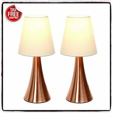 2 Set Modern Stand Table Lamps Touch Sensor Bedroom Night Lamp Desk Lights Shade
