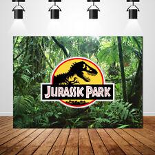 Jurassic Park Backdrops Jungle Forest Children Birthday Photography Background