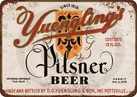 """1934 Yuengling's Pilsner Beer Rustic Retro Metal Sign 8"""" x 12"""""""