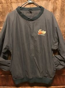 HOOTERS 3rd Anniversary ~ Mens MED ~ Water Resistant Pullover Windbreaker Jacket
