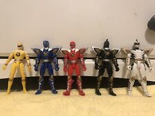 New listing Power Rangers Dino Thunder Bandai 2003 Lot Of 5 Red White Black Blue Figures