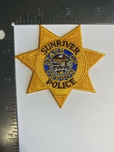 OREGON SUNRIVER POLICE PATCH GOLD