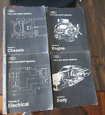 Ford 1975 Car Shop Manual Set 4 Volumes Chassis Engine Electrical Body