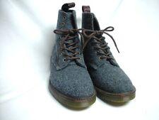 DR MARTENS Blue Harris Tweed Ankle Boots Size 8 Doc Men's Shoe England Mint