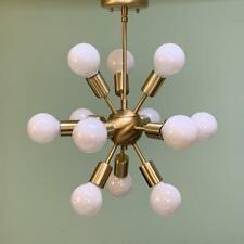 Brass Globe Sputnik Pendant Chandelier 12 Arm Modern Sputnik Brass chandelier