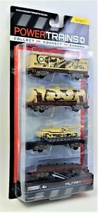 Power Trains Military Freight Trucks SR1 JAKKS Railroad Car Toy Figures 48633