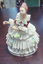 DRESDEN LACE TUTU-BALLERINA  Germany  decorated with flowers applied on dress