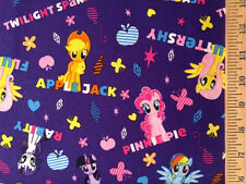 My little ponies and names purple 100% cotton fabric by the yard
