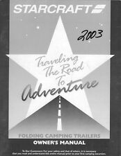 2003 Starcraft Folding Camping Popup Trailer Owners Manual