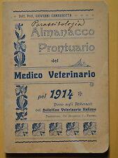 1914-ALMANACCO PRONTUARIO DEL MEDICO VETERINARIO-G.GAMBAROTTA+