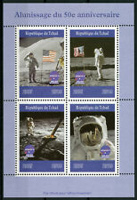 Chad 2019 MNH Moon Landing Apollo 11 Neil Armstrong 4v M/S Space Stamps