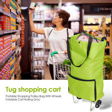 Portable Shopping Trolley Bag Foldable Pull Wheel Cart Supermarket Home Supplies