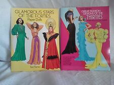 Tom Tierney Great Fashion Designs of the Thirties & Forties Paper Dolls Uncut
