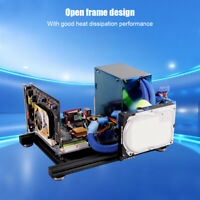 DIY Aluminum Alloy Frame Tempered Glass Mini Computer Case Gaming ATX PC For ITX