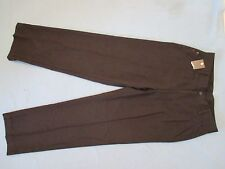 MEN'S BROWN FLAT-FRONT PANTS-HAGGAR BRAND-SIZE 33 X 32