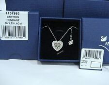 Swarovski Sybil Heart Pendant. Love Necklace Clear Crystal Authentic - 1157993