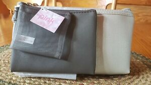 Pink Viva Silver And Gray Makeup Or Purse Zippered Bags.